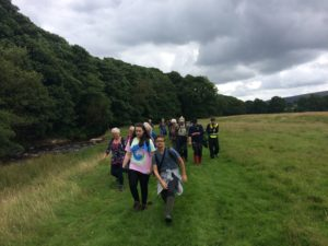 Burnley U3A and NCS taking part in a guided walk organised by Ribble Rivers Trust