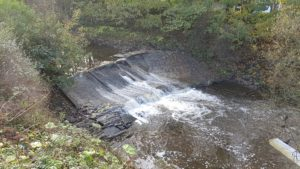 Lower Darwen weir prior to fish passage works