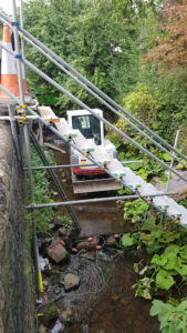 Work taking place in the brook