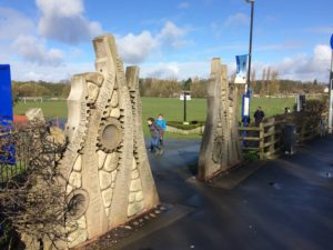 The Park View 4U gates feature as a waypoint on the Ribble Estuary walk.