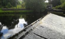 Tranquil moment at Langcliff Weir