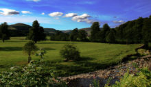 View Over The Hodder from The Inn at Whitewell